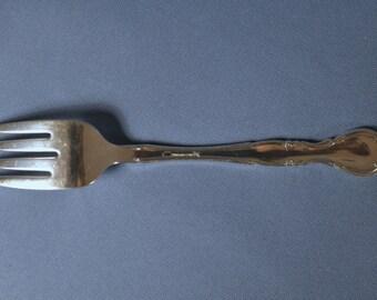 Vintage Oneida Community Silver Plate Affection SVC. Salad/Desert Folk DSC_00275