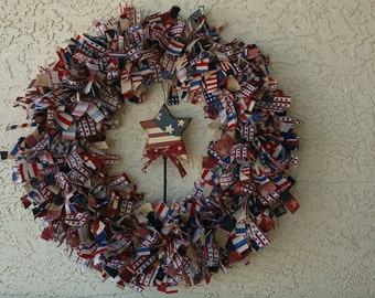 Patriotic Wreath - 4th of July, Memorial Day, Flag Day, Veterans Day