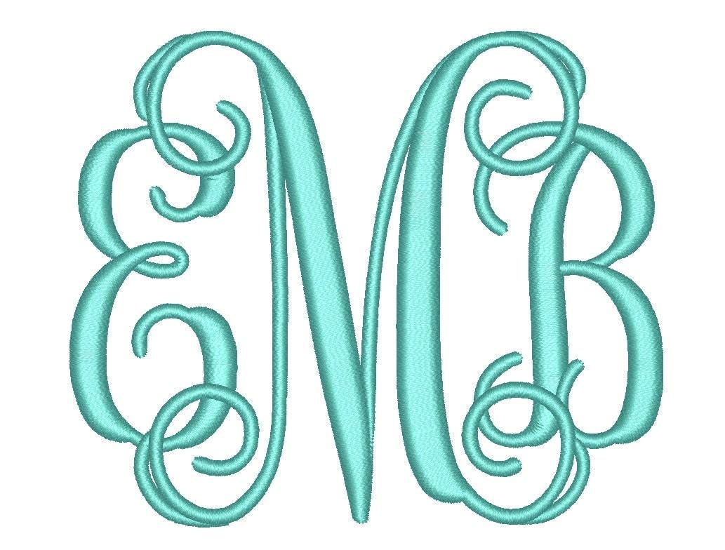 Size vine monogram letters font bx fonts