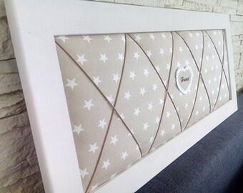 Memo Board wall Baroque Shabby Chic fabric