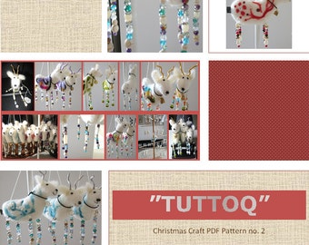 TUTTOQ reindeer PDF-pattern Christmas