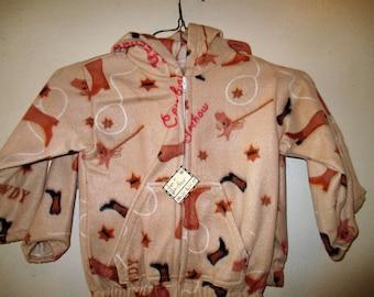Size 4 Tan Yee Haw Fleece Jacket