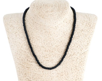 Black Coconut Wood Beads Necklace