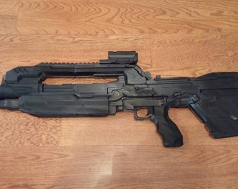Halo 4 Inspired Full-Scale Replica of BR85HB Battle Rifle (Fully Assembled) [3D Printed]