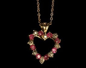Pink Heart Shaped Pendant chain included