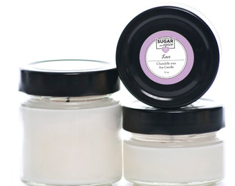 Soy Candle Love/Roses/Natural/Non-Toxic/Gift idea/Valentine's Day