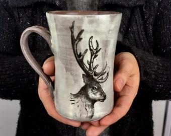 Elk pottery mug