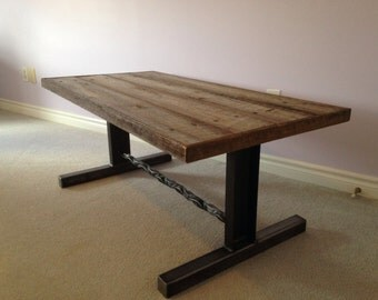 "47"" Reclaimed Wood Coffee Table, Industrail Style."