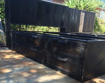 Cali King bed/ Queen bed/headboard/rustic beds, tiny house beds, storage beds with drawers pls inquire for quote, mid century/modern