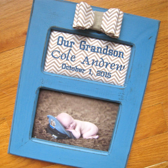 Baby Boy Gifts With Name : Baby boy personalized picture frame grandparent gift