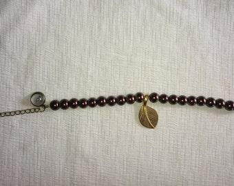 Bracelet chocolate pearls