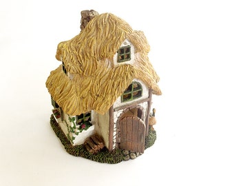 Enchanted forest, fairy house, miniature house, miniature fairy garden, fairy house, outdoor fairy house, thatched cottage, English cottage