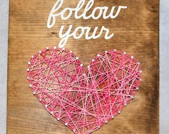 follow your heart string art