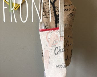 Upcycled Wine Bag, Insulated, Velcro closure