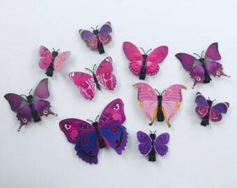 Purple Butterfly Hair Clip. Butterfly Hair Clip.
