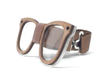 Acrylic and Wood Eyeglasses Bow Tie