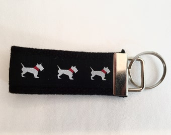 White Dog Key Fob