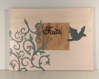 Faith canvas wall art