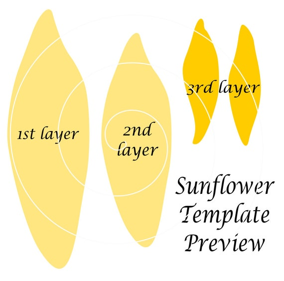 Giant Paper Sunflower Template Patterns And Tutorial Svg