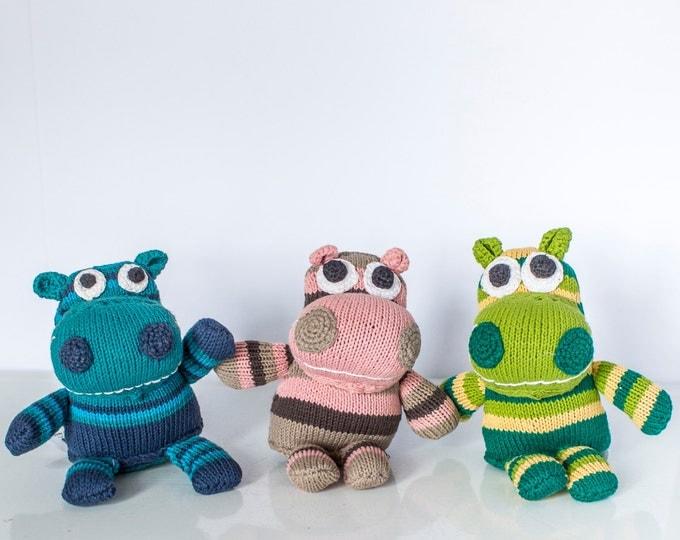 Mulubwa: Hand knitted hippopotamus