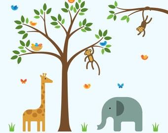 Safari Decals, Safari Decals For Nursery, Safari Nursery Wall - Large