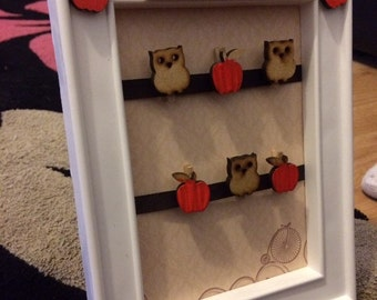 Handmade teacher frames.