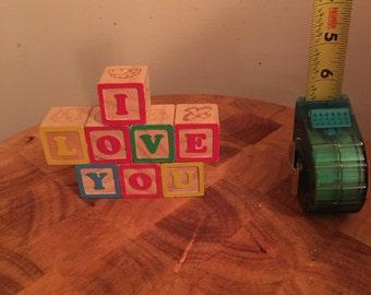I Love You Shelf Decoration