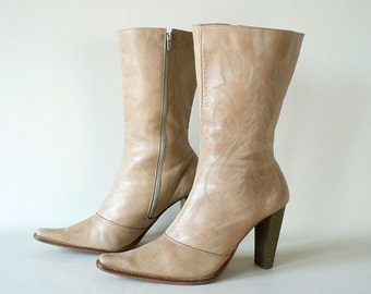 Womens High Heel Boots Size 9