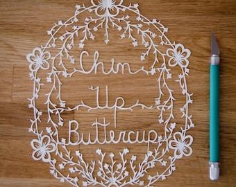 Buttercup Papercut Template
