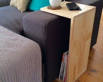 End Table - side table - besdide table - sofa table - accessory table - breakfast table tray - natural finish - timber