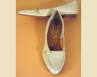 Bone Colored Casual Flats