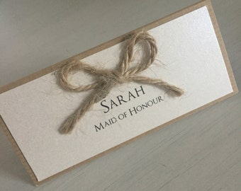 Wedding Place Cards / Country Place Cards / Pretty Place Cards / Kraft Place Cards / Chic Wedding