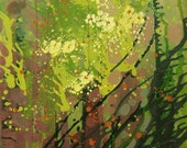 "SPRING 40"" oil on canvas, four seasons, floral wall decor, original painting by Nguyen Ly Phuong Ngoc"