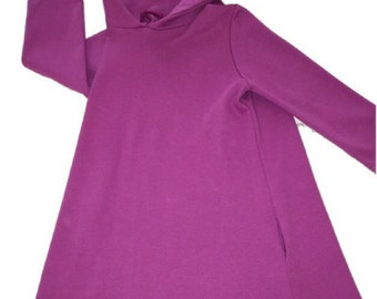 SALE!! SALE!! Organic Hooded Tunic Dress with Pockets