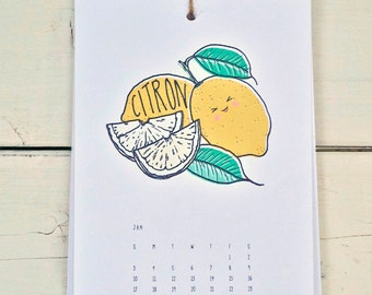Silly Fruit - 2016 Calendar - FREE SHIPPING!