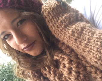 Brown and Maroon Beanie