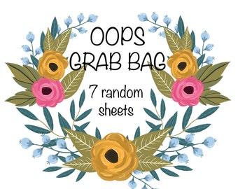 Oops Grab Bag Planner Stickers | Misfit Stickers | Grab Bag Stickers | Mystery Stickers | Erin Condren | Happy Planner