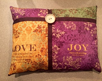 Cross Colored Throw PIllow