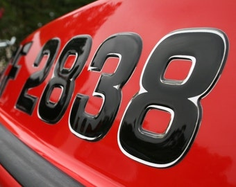 Boat & Jetski Registration Numbers - Domed/Raised Decal (16 pcs) Wake Series