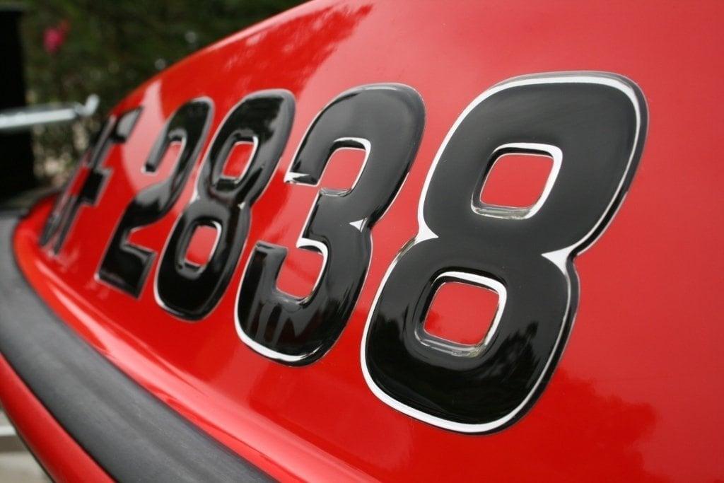 Boat  Jetski Registration Numbers DomedRaised Decal - Custom boat numbers