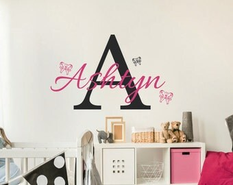Name Wall Decor baby name decals | etsy