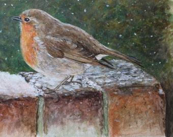 HillArt Robin Original Acrylic Painting