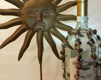 Beaded and Macrame' Wine Bottle Cover