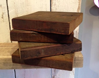 Chunky wooden coasters