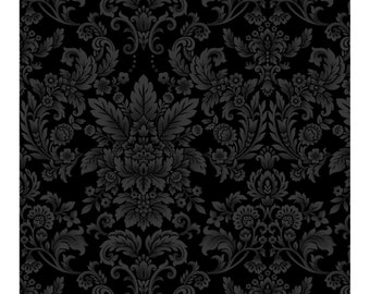 Botanica III - BTY - Henry Glass - Black Tonal
