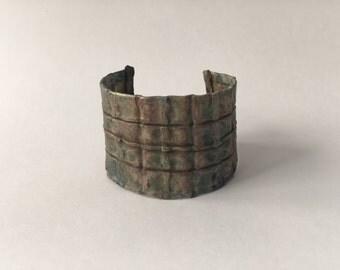 Fold Formed Copper Cuff Bracelet, Large