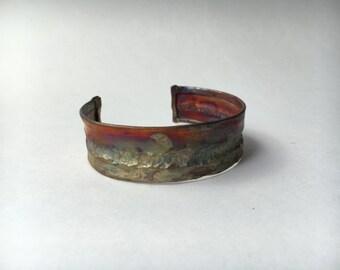 Fold Formed Copper Cuff Bracelet, 3/4 inch wide