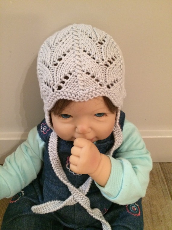 Hand Knit Baby Hat Fresh Off The Needles Perfect For Shopping Traveling and that Big First Impression Stretchy n Soft Girl or Boy Nb to 3 Mo