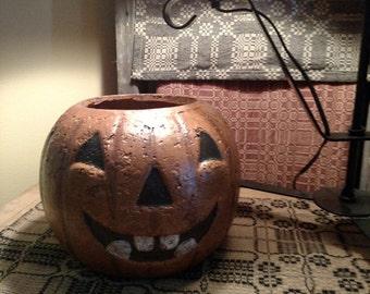 Primitive Jack O'Lantern Pumpkin