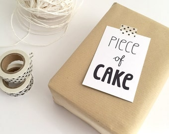 Gift Cards 10 pieces / Piece Of Cake (5,5 x 8,5 cm)